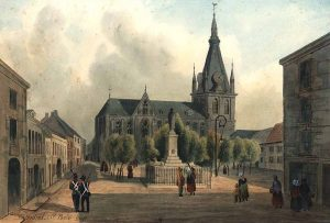 Liège, cathédrale Saint-Paul - façade nord - 19è S.