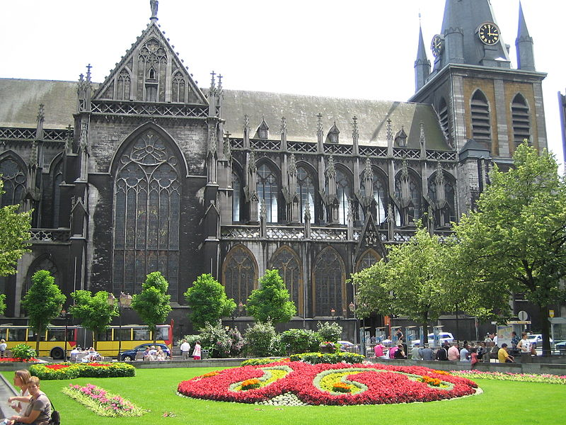 Liège, cathédrale Saint-Paul, façade nord